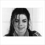 Michael Jackson Block Giant Wall Art Poster