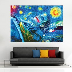Joker  Starry Night  Block Giant Wall Art Poster (P-1914)