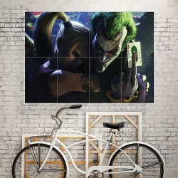 Harley Quinn Joker Suicide Squad Movies Block Giant Wall Art Poster (P-1916)