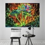 Awesome Mushroom Block Giant Wall Art Poster