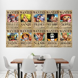 Straw Hat Pirates One Piece Wanted Block Giant Wall Art Poster (P-1922)
