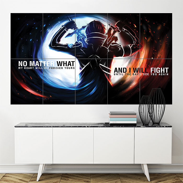 Sword Art Online SAO Season 2 Block Giant Wall Art Poster