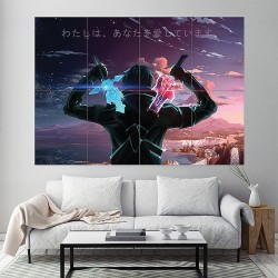 Sword Art Online SAO Block Giant Wall Art Poster (P-1926)
