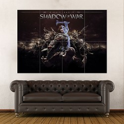 Middle Earth Shadow of War Block Giant Wall Art Poster (P-1937)