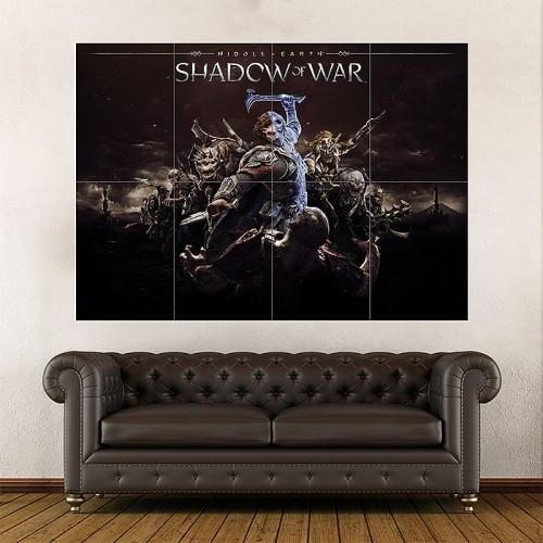 โปสเตอร์เกมส์ ขนาดใหญ่ Middle Earth Shadow of War