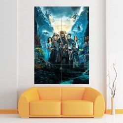 Pirates of the Caribbean Dead Men Tell no Tales Block Giant Wall Art Poster (P-1939)