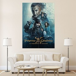 Pirates of the Caribbean Dead Men Tell no Tales #1 Block Giant Wall Art Poster (P-1940)
