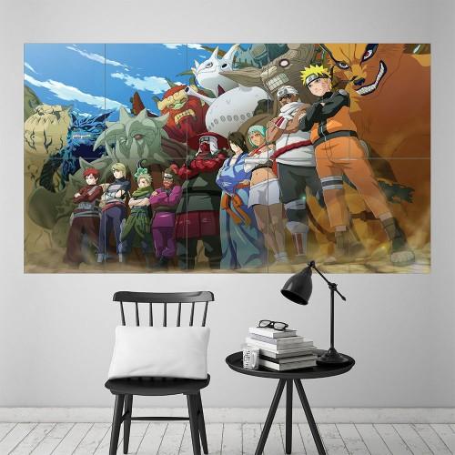 Naruto Manga Anime Block Giant Wall Art Poster