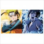 Naruto and Sasuke Uchiha Block Giant Wall Art Poster