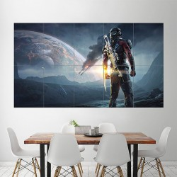 Mass Effect Andromeda 2017 Video Game Block Giant Wall Art Poster (P-1954)