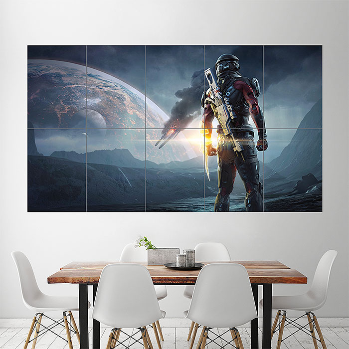 Mass Effect Andromeda 2017 Video Game Block Giant Wall Art Poster