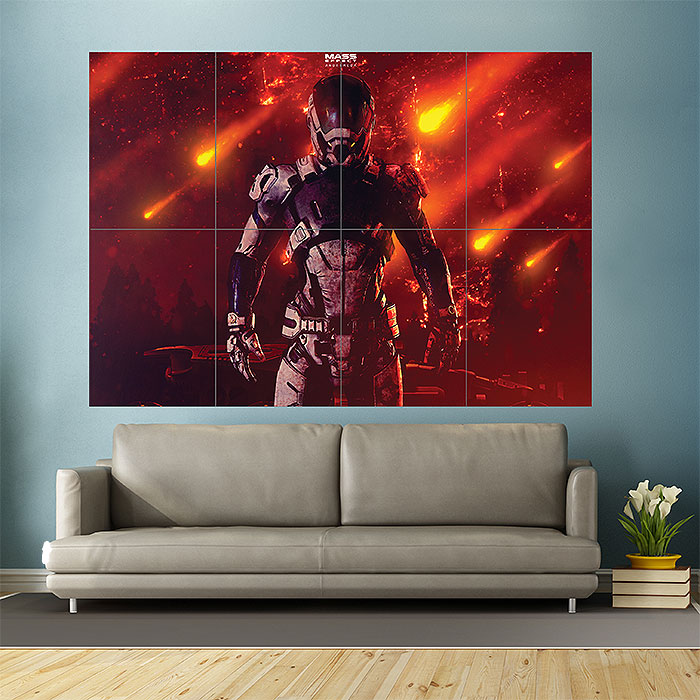 Mass Effect Andromeda Soldier Block Giant Wall Art Poster