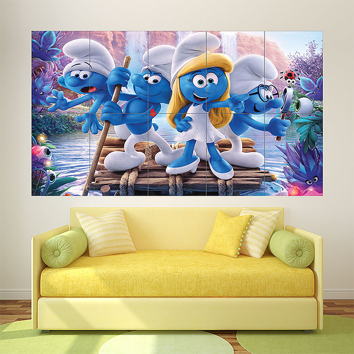 Smurfs the Lost Village Block Giant Wall Art Poster