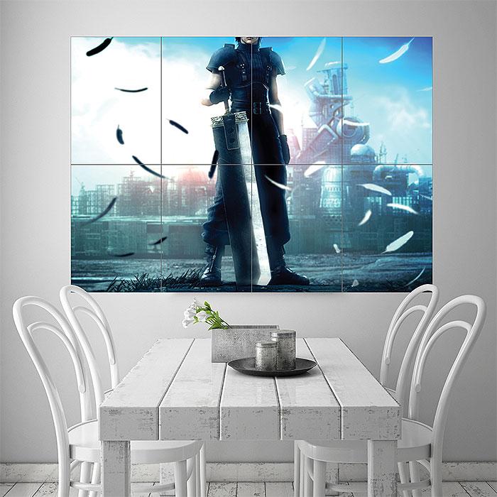 Crisis Core Final Fantasy VII Block Giant Wall Art Poster