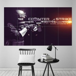 Counter Strike Global Offensive Block Giant Wall Art Poster (P-1966)