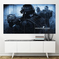 Counter Strike Global Offensive Game Block Giant Wall Art Poster (P-1967)