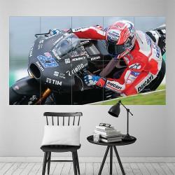 โปสเตอร์ ขนาดใหญ่ ภาพมอเตอร์ไซค์ เคซีย์ สโตเนอร์ Casey Stoner Moto GP (P-1977)