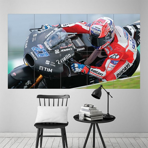 Casey Stoner Moto GP Block Giant Wall Art Poster