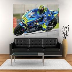 โปสเตอร์ ขนาดใหญ่ ภาพมอเตอร์ไซค์ อันเดรีย เอียนโนเน Andrea Iannone ITA Moto GP #1 (P-1979)