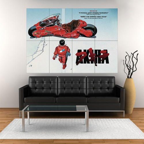 Akira (1988 film) Block Giant Wall Art Poster