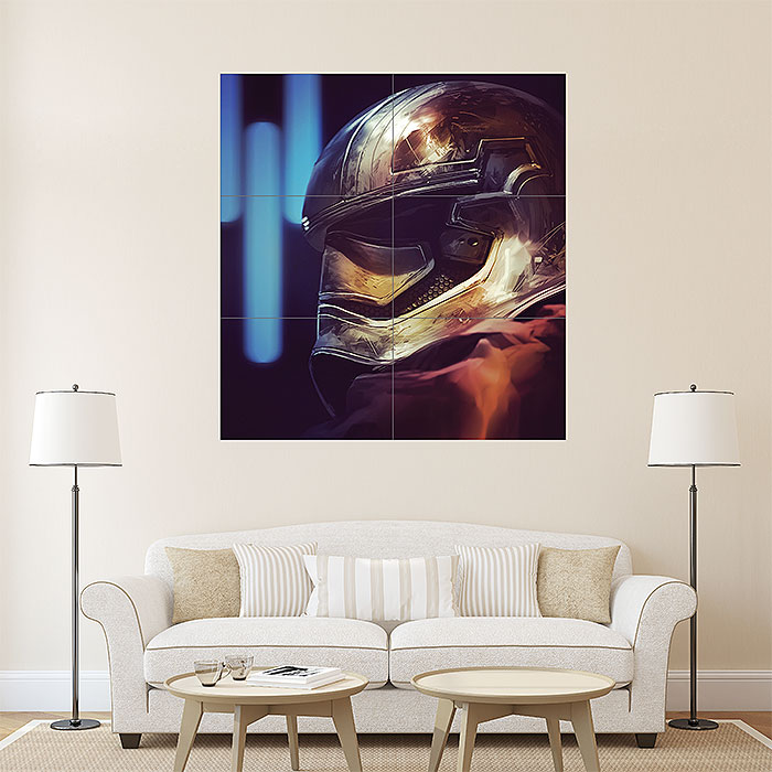 star wars captain phasma wand kunstdruck riesenposter. Black Bedroom Furniture Sets. Home Design Ideas