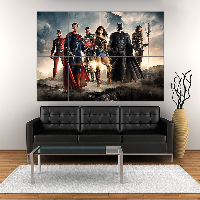 The Justice League Batman Superman Wonder Woman Large Poster Art Print