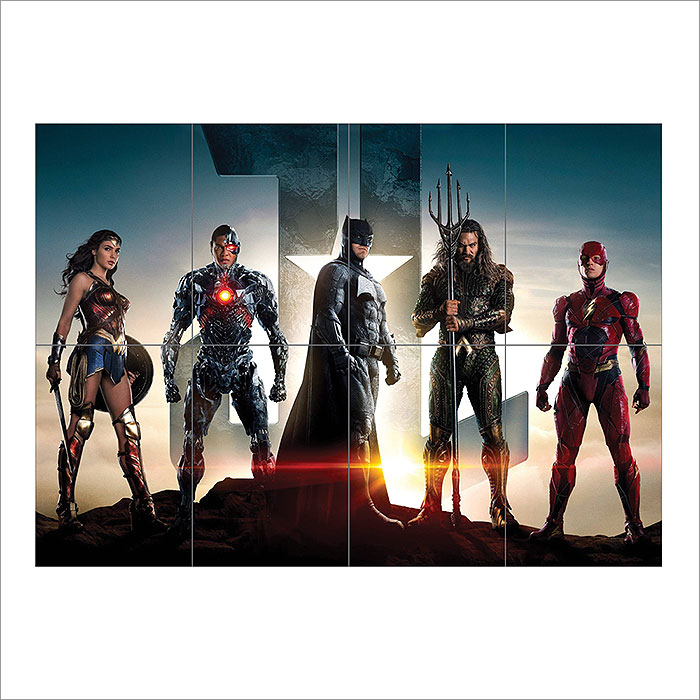 Justice League Block Giant Wall Art Poster