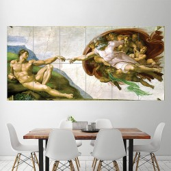 Michelangelo's The Creation of Adam Block Giant Wall Art Poster (P-1994)