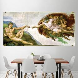 Die Erschaffung Adams Michelangelo  Wand-Kunstdruck Riesenposter (P-1994)