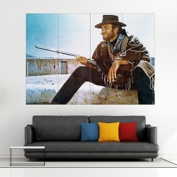 Clint Eastwood The Good, the Bad and the Ugly Block Giant Wall Art Poster (P-1997)