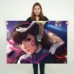 Dva Overwatch Artwork Block Giant Wall Art Poster