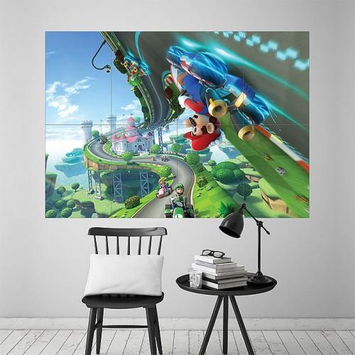 Mario Kart Block Giant Wall Art Poster