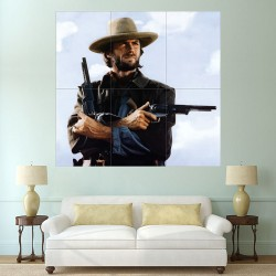 Clint Eastwood Cowboy Gun Block Giant Wall Art Poster (P-2009)