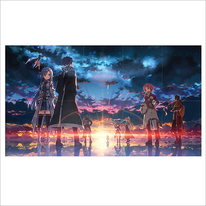 Sword Art Online Game Block Giant Wall Art Poster