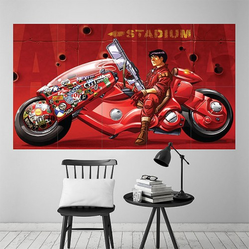 Akira Anime Block Giant Wall Art Poster