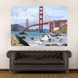 The Golden Gate Bridge Block Giant Wall Art Poster (P-2016)