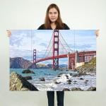 โปสเตอร์ ขนาดใหญ่ สะพานโกลเดนเกต The Golden Gate Bridge