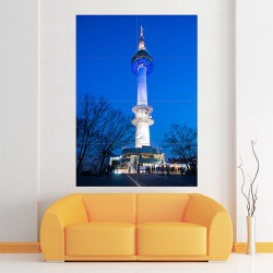N Seoul Tower Block Giant Wall Art Poster (P-2017)