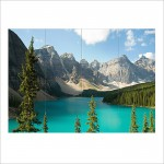 Alberta canada lake mountains Block Giant Wall Art Poster