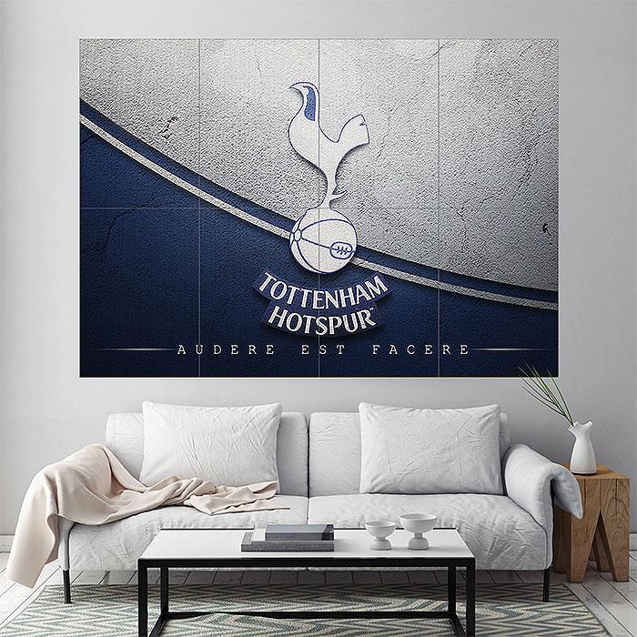Tottenham hotspur football club block giant wall art poster