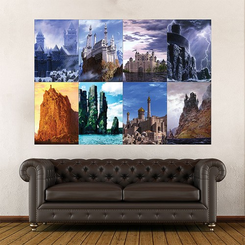 Game of Thrones House Castles  Wand-Kunstdruck Riesenposter