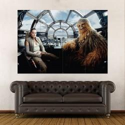 โปสเตอร์ ขนาดใหญ่  สตาร์ วอร์ส Rey Chewbacca Star Wars the Last Jedi (P-2024)