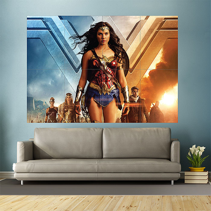 & Wonder Woman Block Giant Wall Art Poster