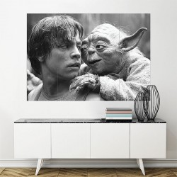 Star Wars Luke Skywalker and Yoda Block Giant Wall Art Poster (P-2030)