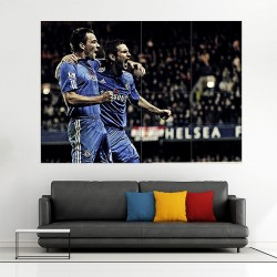 Frank Lampard & John Terry Chelsea Legends Block Giant Wall Art Poster (P-2036)