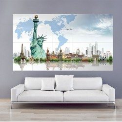 Art Artwork Artistic City Cities Fantasy Architecture Building Block Giant Wall Art Poster (P-2039)