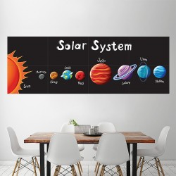 Solar System for Kids Block Giant Wall Art Poster (P-2047)