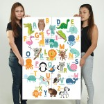 Animal Alphabet for Kid Block Giant Wall Art Poster