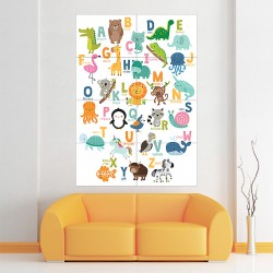 Animal Alphabet for Kid Block Giant Wall Art Poster (P-2050)