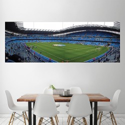 Man City Etihad Stadium Manchester Mcfc FC Block Giant Wall Art Poster (P-2056)
